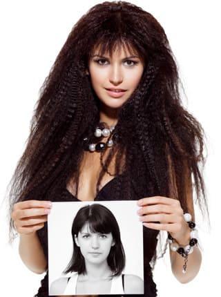 Haarverlängerung - vorher- nachher